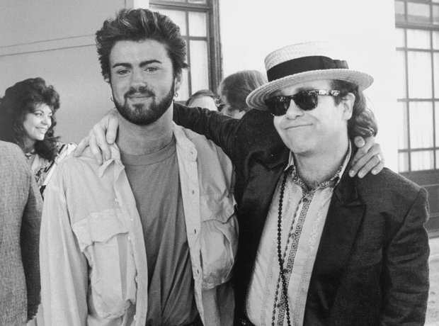 Elton John and George Michael