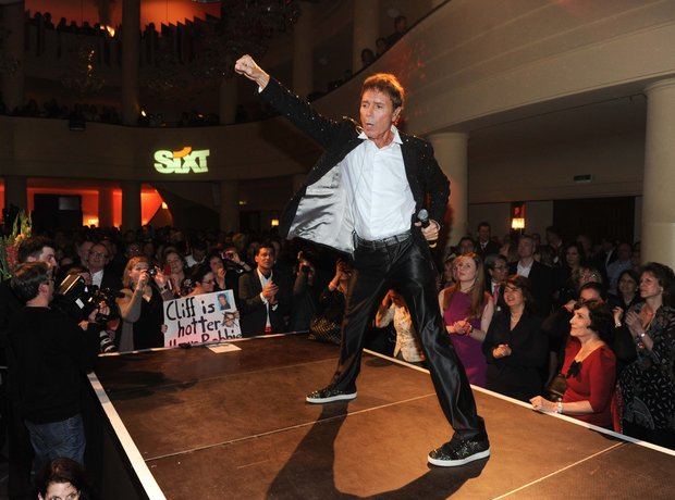 Sir Cliff Richard performs live