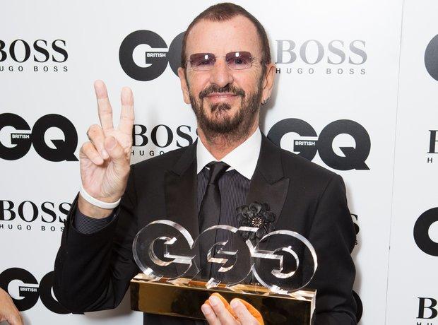 Ringo Starr after winning the Humanitarian award a