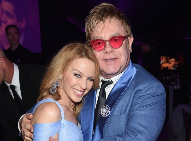 Kylie Minogue and Sir Elton John