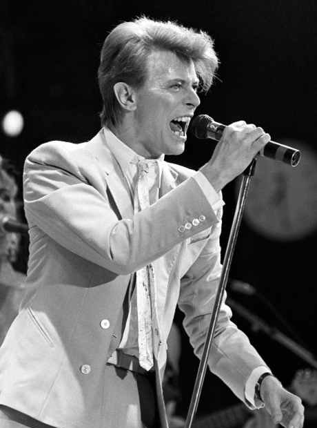 Bowie on stage