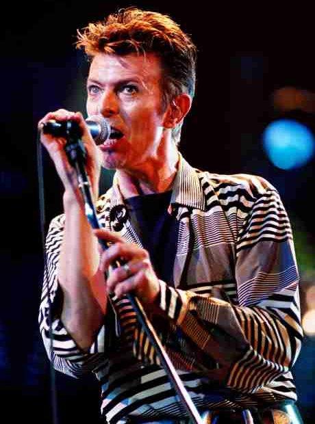 David Bowie in concert at the Birmingham NEC Arena