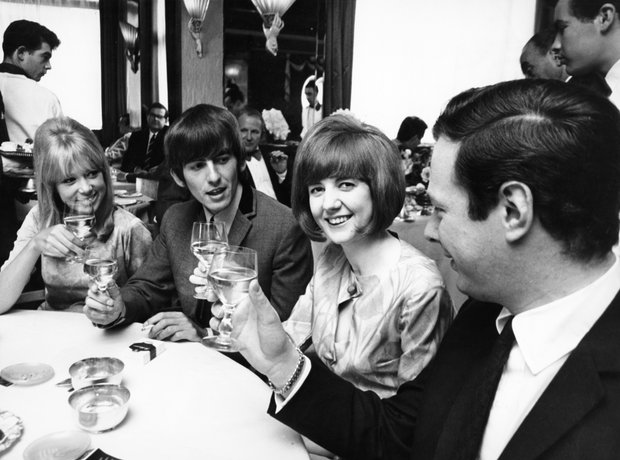 Cill Black, Patti Boyd, George Harrison, Brian Eps