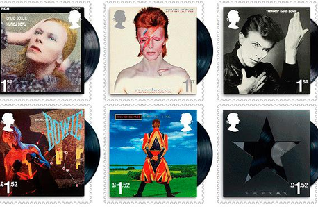 Commemorative stamps of David Bowie