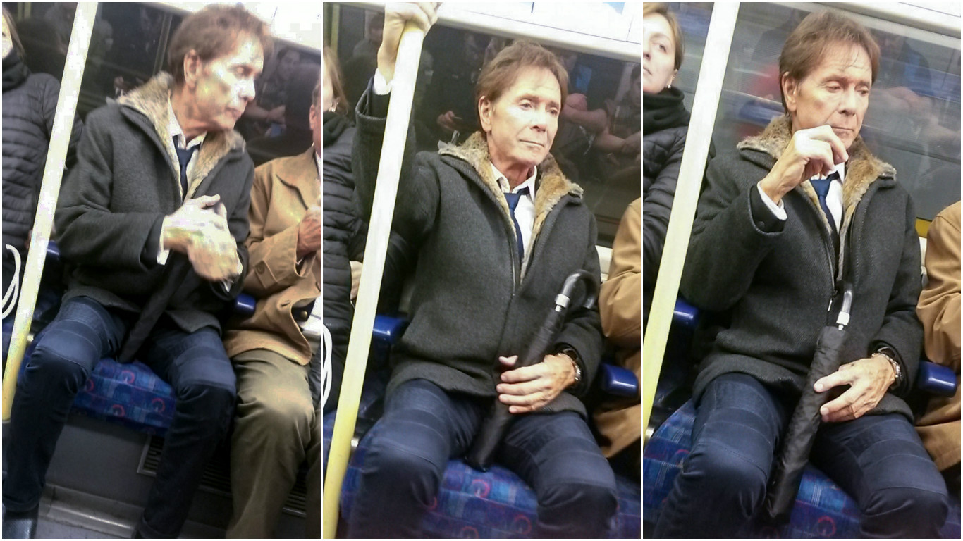 Cliff Richard on the Tube